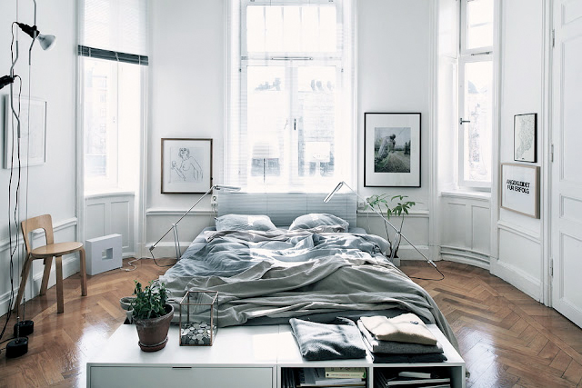 scandi bedroom via fashionsquad.com