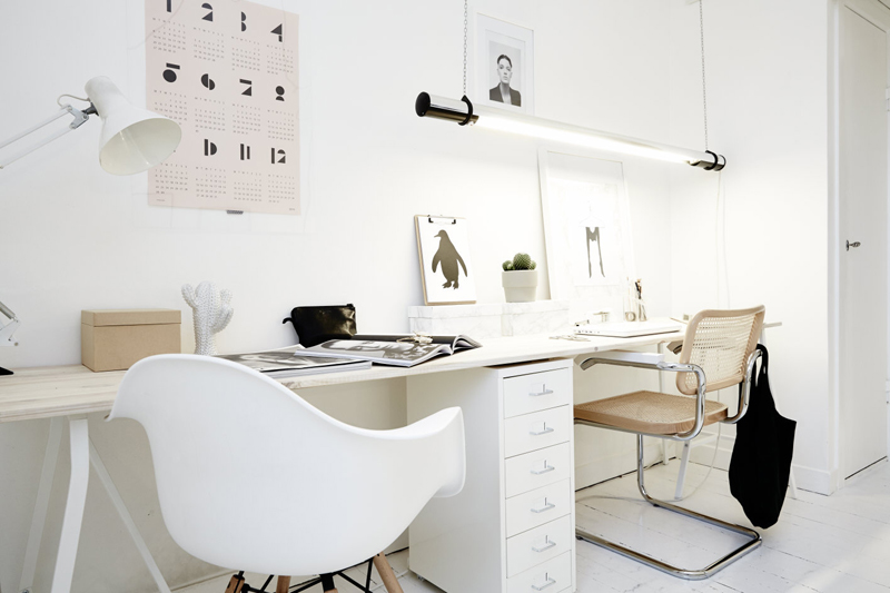scandinavian office by Elin Kicken