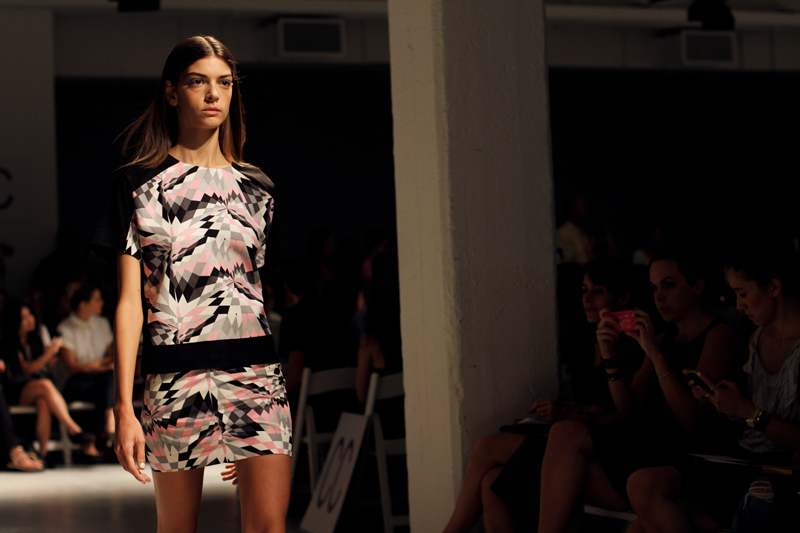 tibi spring 2013 graphic print dress