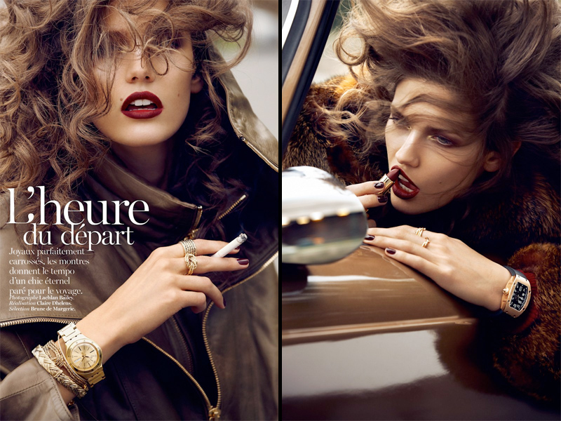 vogue paris, red lipstick, makeup, beauty