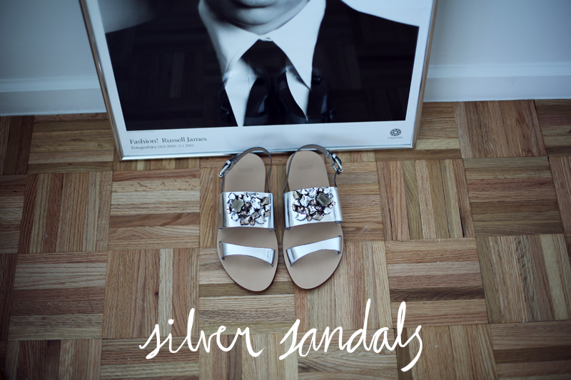 zara silver sandals via fashionsquad.com